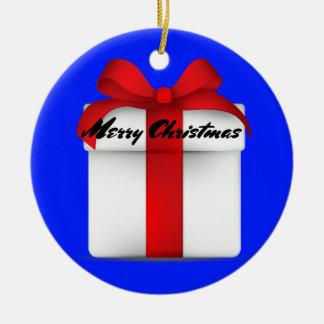 "Ornamento redondo do ""Feliz Natal"""