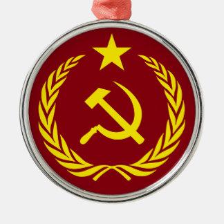 Ornamento redondo superior da bandeira comunista