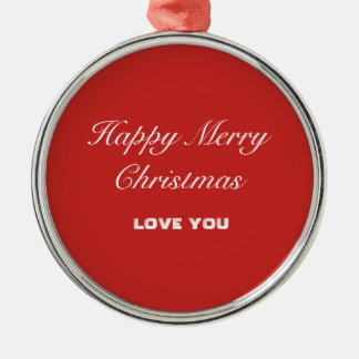 Ornamento redondo superior - Feliz Natal feliz