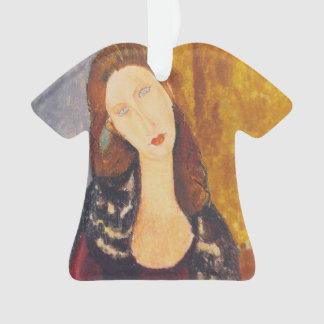Ornamento Retrato de Jeanne Hebuterne por Amedeo Modigliani
