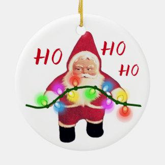 Ornamento retro do gnomo do papai noel do Natal Ho