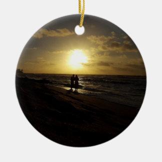 Ornamento romântico da praia
