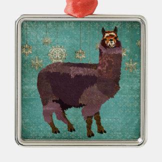 Ornamento roxo da alpaca