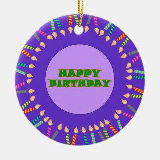 Ornamento roxo do aniversário