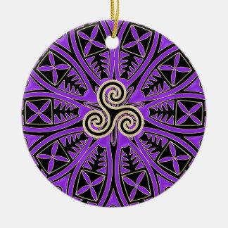 Ornamento roxo do feriado da mandala de Triskele