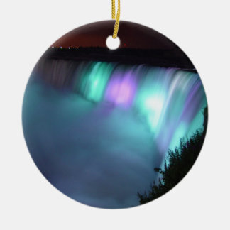 Ornamento roxos do Aqua da noite de Niagara Falls