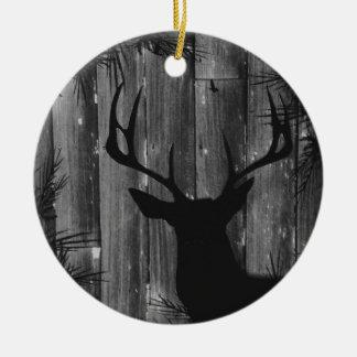 Ornamento rústico dos cervos do fanfarrão de