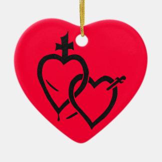Ornamento sagrado & imaculado dos corações