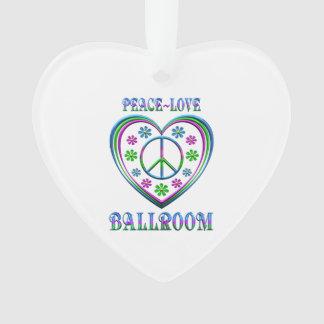 Ornamento Salão de baile do amor da paz