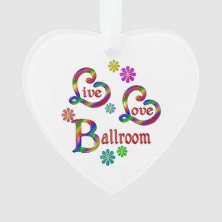 Ornamento Salão de baile vivo do amor