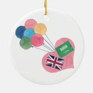 ornamento saudita-britânico do círculo