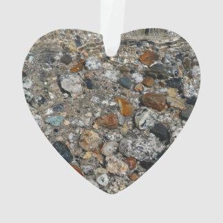 Ornamento Seixos do granito na natureza de Yosemite do lago