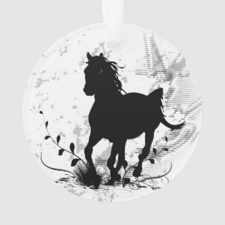 Ornamento Silhueta, cavalo preto