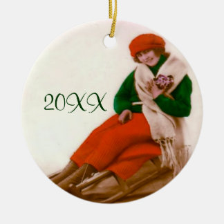 Ornamento Sledding do vintage