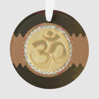 Ornamento Slogan espiritual do símbolo da hinduísmo da