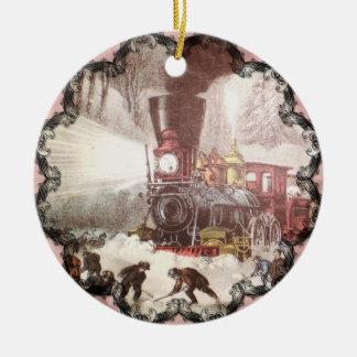 Ornamento Snowbound do trem
