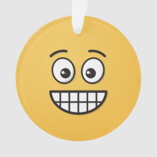 Ornamento Sorrindo a cara com olhos abertos