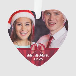 Ornamento Sr. e Sra. arco vermelho da foto do casal 2