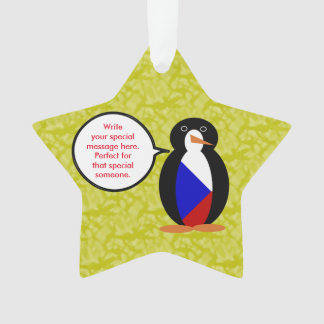 Ornamento Sr. Pinguim do feriado da república checa
