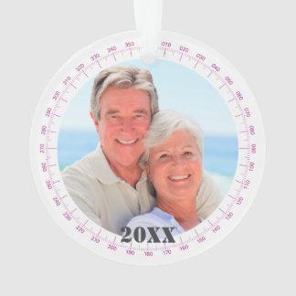 Ornamento Sua foto Florida 2-Sided náutico comemorativo
