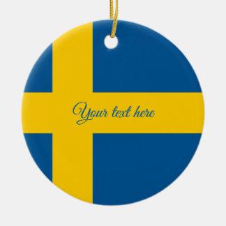 Ornamento sueco da árvore de Natal da bandeira