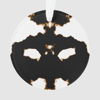 Ornamento Teste de Rorschach de um cartão da mancha da tinta