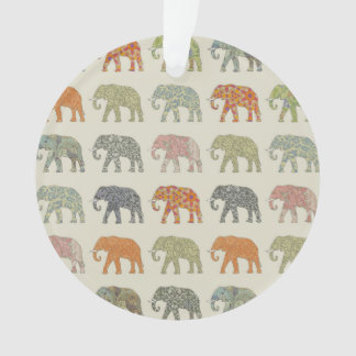 Ornamento Teste padrão à moda do elefante