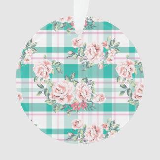Ornamento Teste padrão cor-de-rosa das flores bonitas do