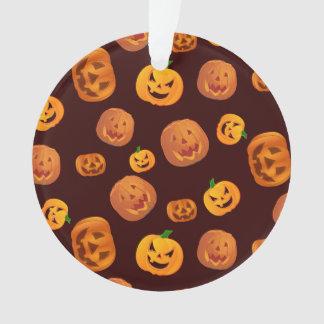 Ornamento Teste padrão da abóbora da Jack-O-Lanterna do Dia