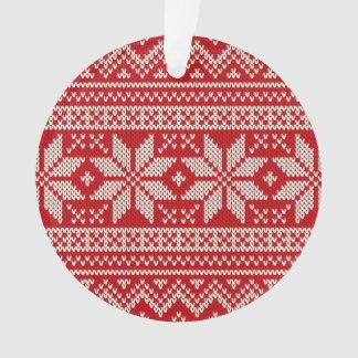 Ornamento Teste padrão de confecção de malhas da camisola do