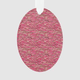 Ornamento Teste padrão de ondas abstrato cor-de-rosa.