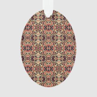 Ornamento Teste padrão desenhado mão abstrato. Cor morna