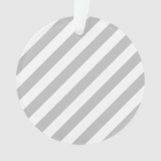 Ornamento Teste padrão diagonal do cinza e o branco das