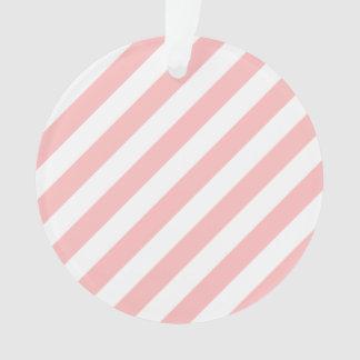 Ornamento Teste padrão diagonal do rosa e o branco das