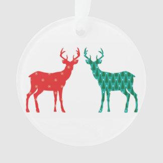 Ornamento Teste padrão do Natal do fanfarrão dos cervos -