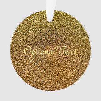 Ornamento Teste padrão espiral do ouro