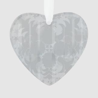 Ornamento Teste padrão floral do cinza de prata do vintage