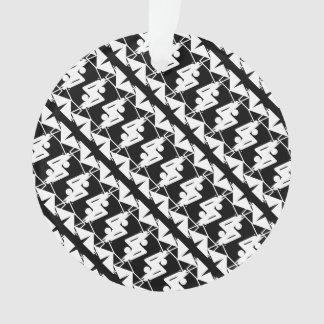 Ornamento Teste padrão geométrico & abstrato espelhado na