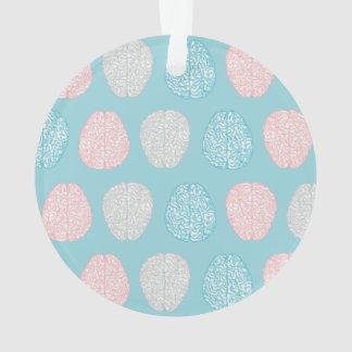 Ornamento Teste padrão Pastel Brainy (cérebros Pastel