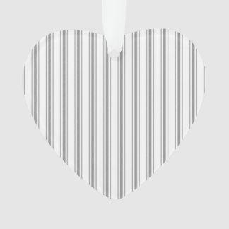 Ornamento Tiquetaque estreito do colchão do branco cinzento