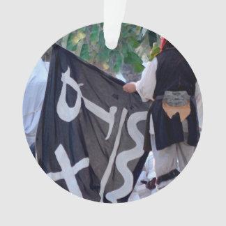 Ornamento tomada abaixo da imagem do poster da bandeira de