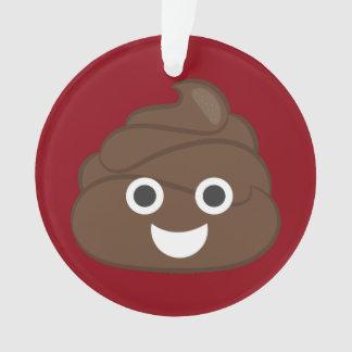 Ornamento Tombadilho parvo louco Emoji de Brown