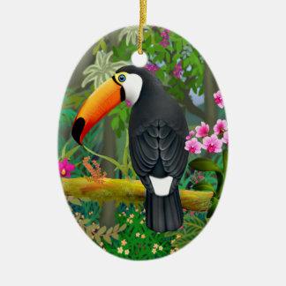 Ornamento tropical do pássaro de Toco Toucan