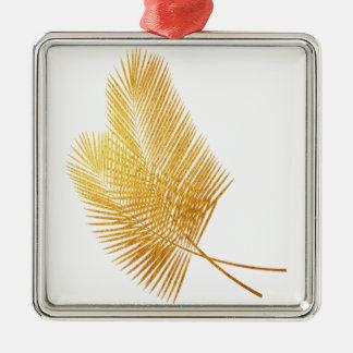 Ornamento tropical em folha de palmeira do ouro