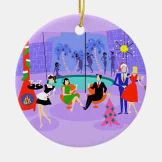 Ornamento tropical retro da festa de Natal