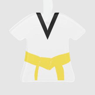 Ornamento Uniforme amarelo da correia das artes marciais