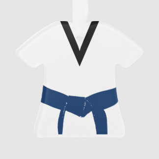Ornamento Uniforme azul escuro da correia das artes marciais