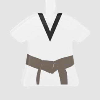 Ornamento Uniforme da correia de Brown das artes marciais