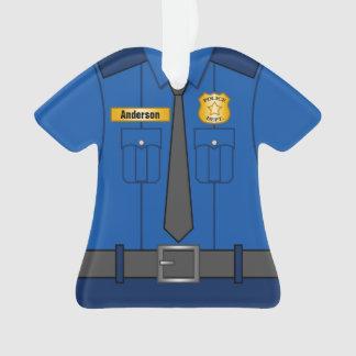 Ornamento Uniforme do agente da polícia dos azuis marinhos