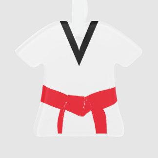 Ornamento Uniforme vermelho da correia das artes marciais